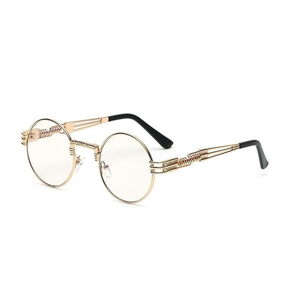 Street Knitted Accessories | Detroit Ave Round Gold Frame Glasses ...